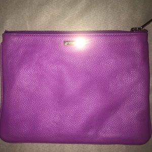 REBECCA MINKOFF PURPLE LEATHER POUCH